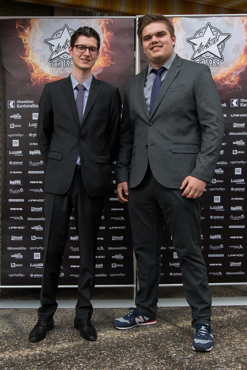 Alex Bitterli und Luki Mehr ausnahmsweise einmal ohne Sarner Dress an der Nacht der Sterne 2019 (Foto: Simon Abächerli)