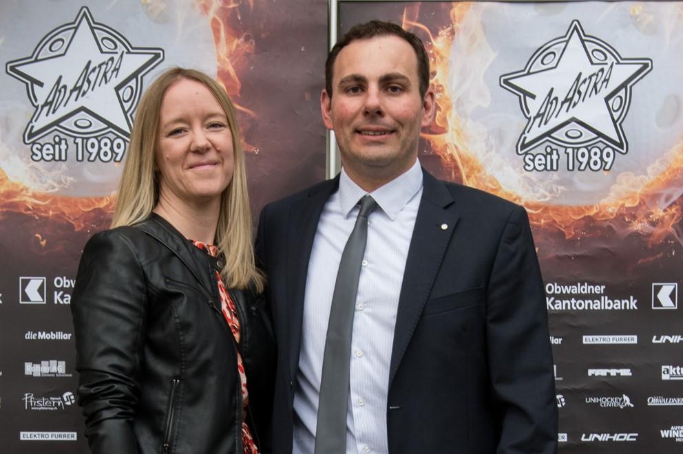 """Toni Britschgi mit seiner Frau an der """"Nacht der Sterne 2019""""."""