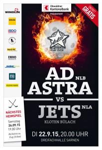 Inserat Aktuell | Cup 1/16-Final: Ad Astra Sarnen - Kloten-Bülach Jets