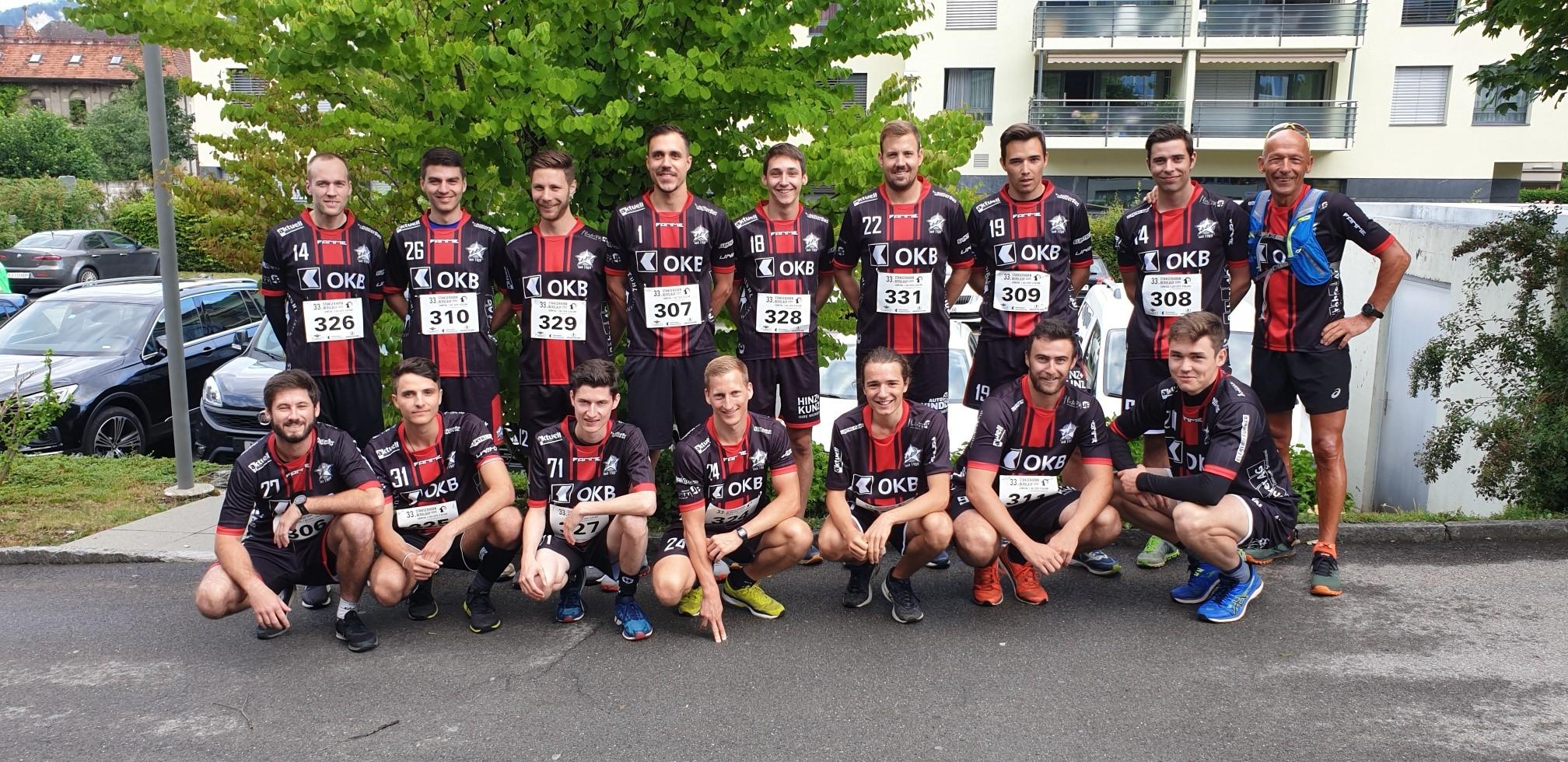 Stanserhornlauf mit der 1. Mannschaft von Ad Astra Sarnen.