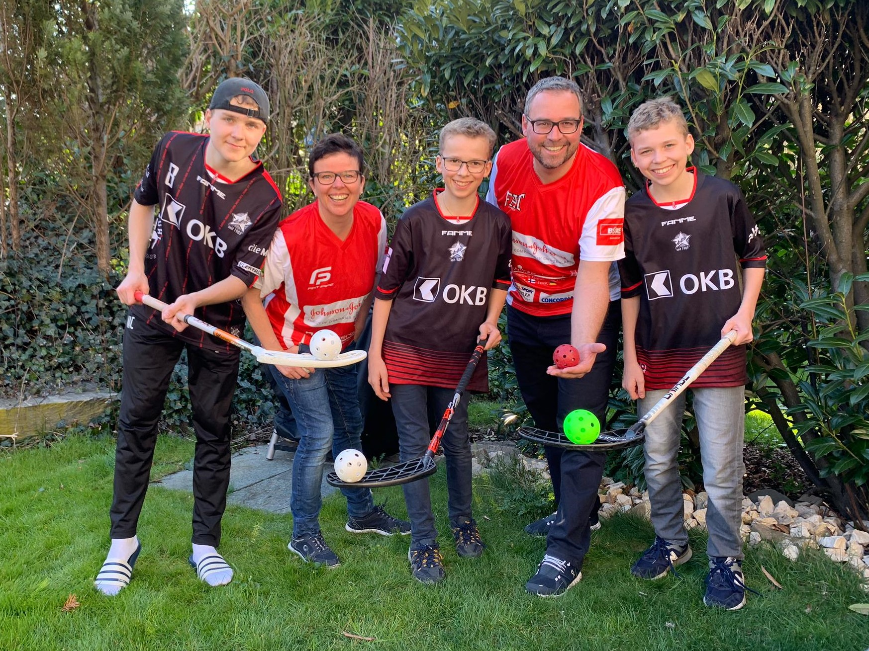 Die Christen, eine Unihockey begeisterte Familie.