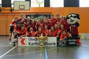 """Floorball Köniz, Sieger der 5. Austragung vom """"Beschte Zwei"""" 2015 (Foto: Simon Abächerli)"""