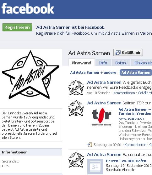 Ad Astra Sarnen auf facebook