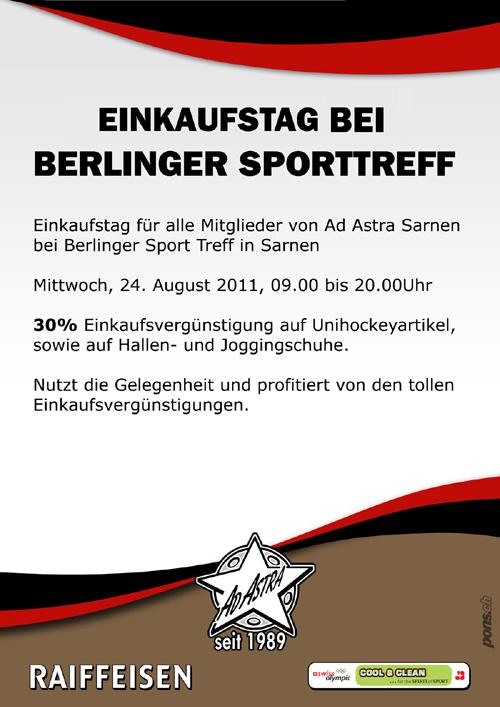 Einkaufstag bei Sporttreff Berlinger