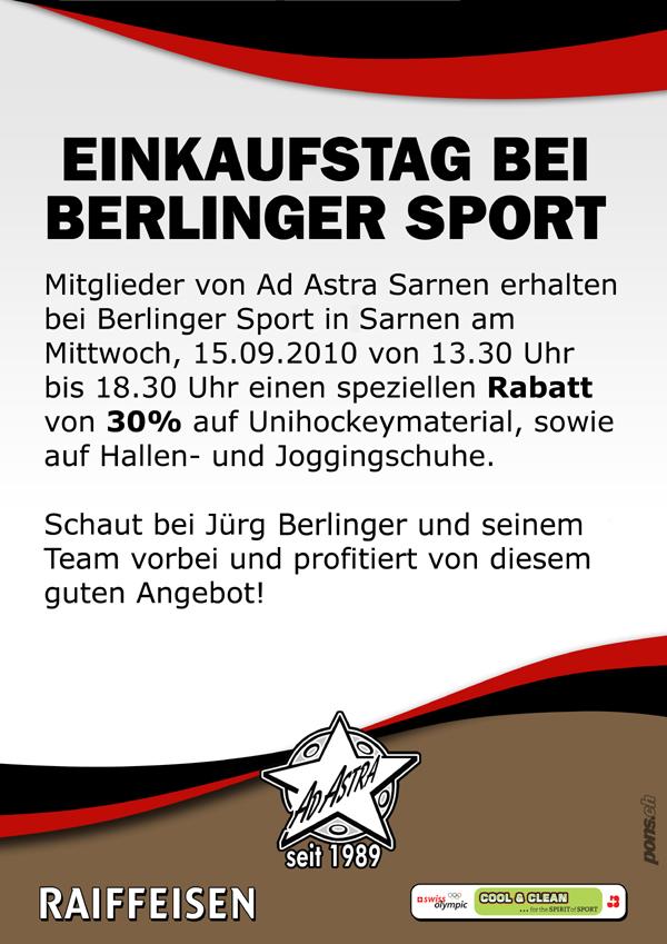 Einkaufstag bei Berlinger Sporttreff