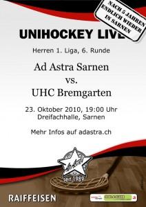 Flyer, Plakat Ad Astra sarnen - UHC Bremgarten