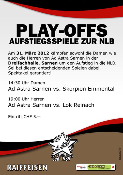 Play-Offs - Aufstiegsspiele zur NLB
